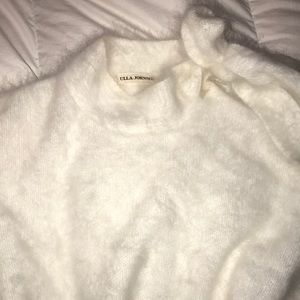 Ulla Johnson fluffy white sweater